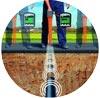 Localizzazione e mappatura di tubazioni e sotto servizi in ferro e in plastica, di cavi elettrici e scarichi di condotte in genere